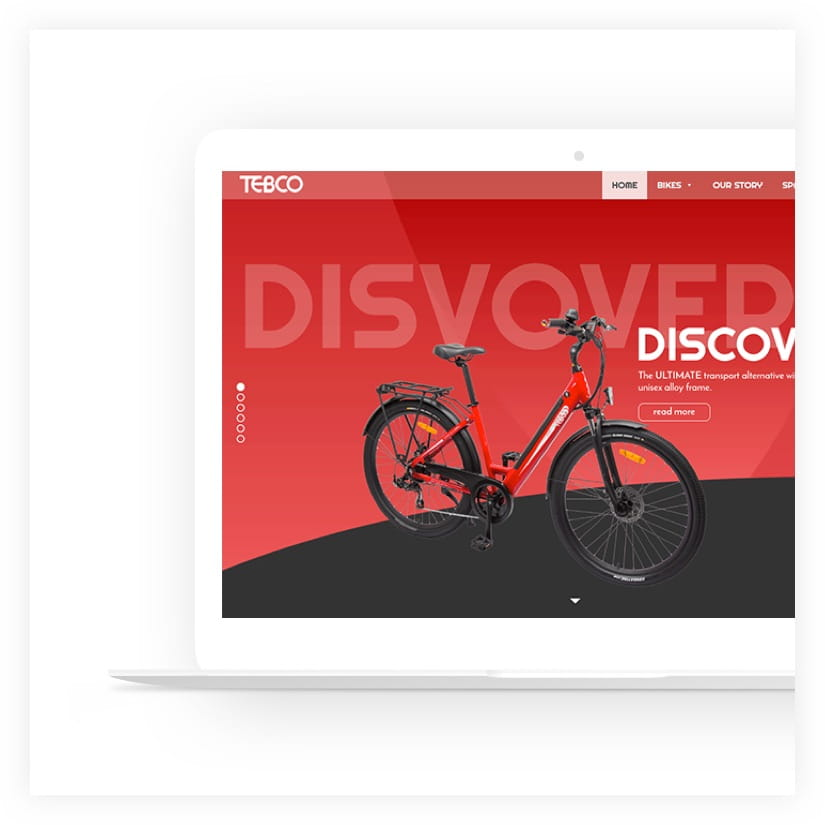 web design project Electric bikes