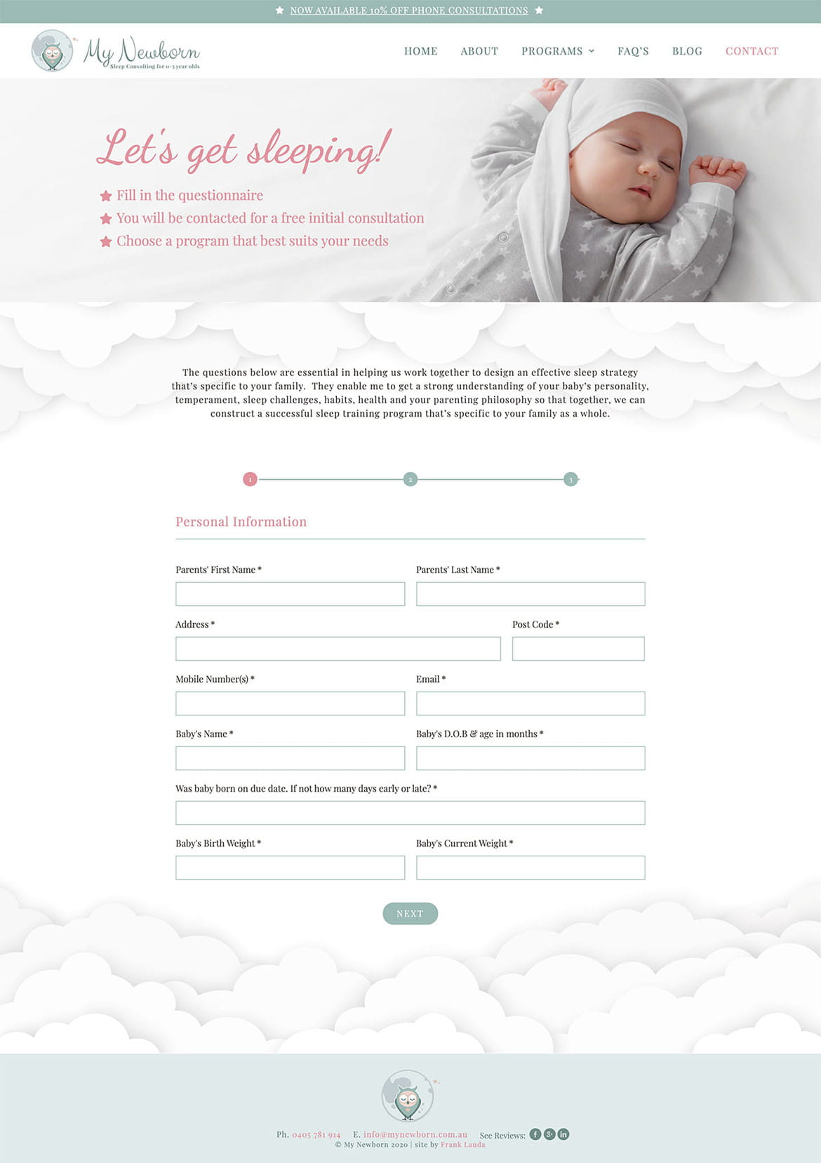 contact web page