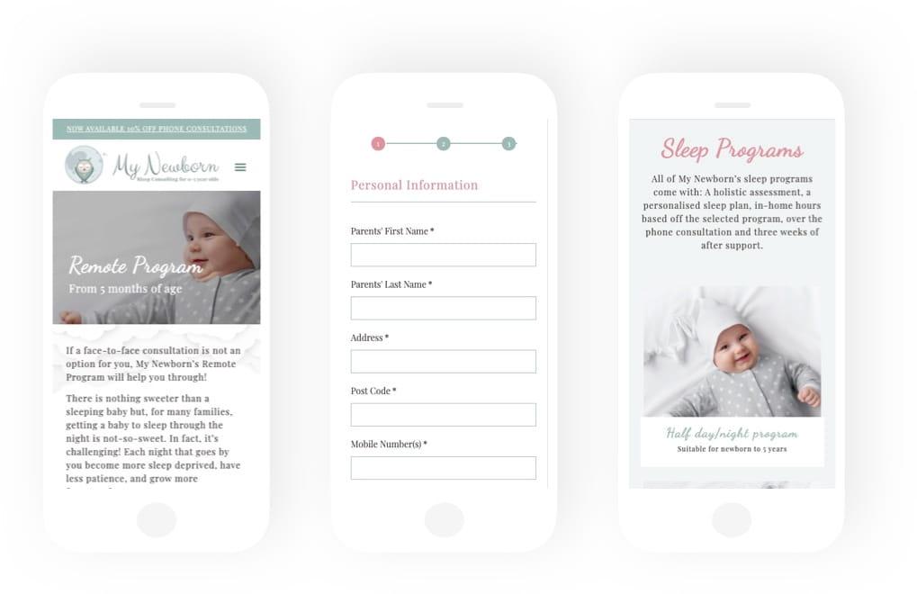 my newborn mobile web
