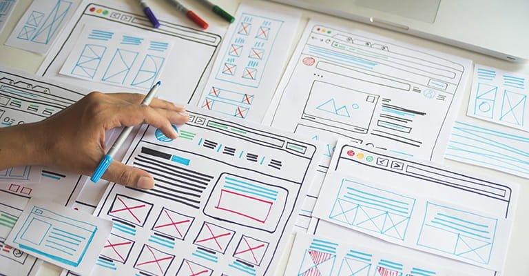 website design planning prototype